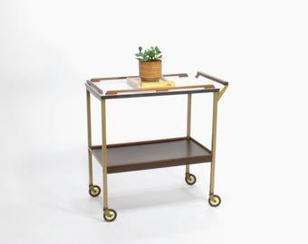 Mid Century Modern Cosco Metal Bar Cart // Serving Cart