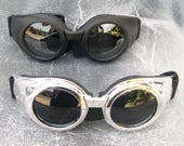 STEAMPUNK GOGGLES - Burning Man - 'Dust Free' Cyber Punk Goggles w/Padding and NO Airvents