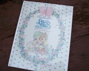 Vintage Grandmother's Special Moments Special Memories for My Grandchild Keepsake Album Book