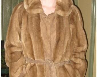 On Sale VINTAGE LILLI ANN Jacket suede & faux fur coat With Belt 251