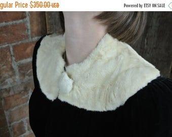 On Sale 1920s Ermine Velvet Coat/ Glass Button/ Black 20s Coat/ Goth Cloak