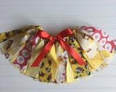Belle Tutu Skirt - Little Girl Belle Skirt - Belle Fabric Tutu - Belle Birthday Skirt - Belle Birthday - Belle Costume - Belle Baby Girl -
