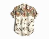 Vintage 80s Zookeeper Shirt / Safari Animal Shirt / 80s Kitsch - women's medium