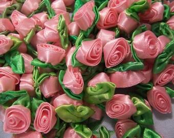 satin ribbon rose buds