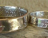 1972 Kennedy Half Dollar size 13 and 1776-1976 Bicentennial Quarter size 8.5 Coin Rings (Reserved for Matt)