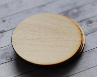 Wooden coasters, Blank wood coasters, Circle coasters, Round wood coasters, DIY coasters, Wooden supplies, Handmade coasters, Set of 5