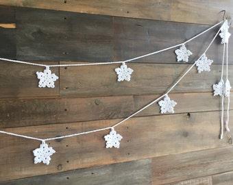 Snowflake Crochet Garland