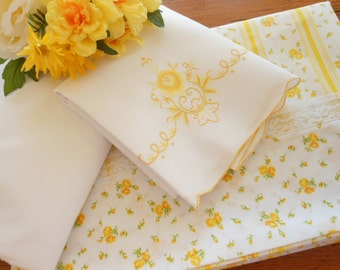 NOS Vintage Twin Size Percale Sheet Set Free Shipping