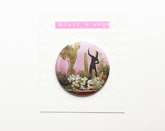 Cactus Pocket Mirror 76mm / 3 inches - The Wonders of Cactus Island