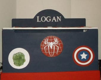 Boys Toy Box, BATMAN, Heros, Toy Storage, Toy Chest, Kids Furniture, Personalized, Trunk, Toy Bin, Any Super Hero you ant