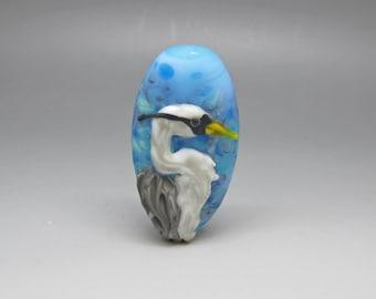 Heron - Lampwork Focal Bead