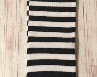 Leg Warmers, Infant Leg Warmers, Toddler leg Warmers, black and white stripes, Ready to Ship