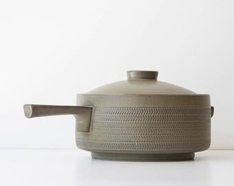 Vintage Mid Century Modern - Gill Pemberton - Denby Chevron Pot - Casserole Dish