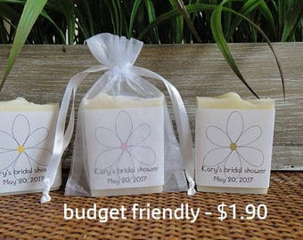 Bridal Shower Favors - VeganFavors - Natural Soap - Baby Shower - Shower Favors - Cello Bags, Bagged Favors, Bagged Soap Favors