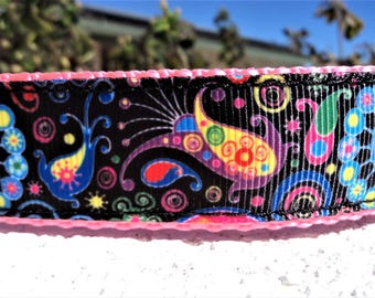 """Dog Collar, Vibrant, Quick Release Buckle 3/4"""" or 1"""" width - upgrade to Martingale - see details & sizing guide within"""