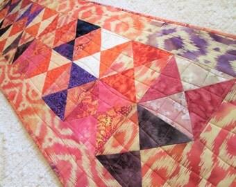 Quilted Spring Batik Table Runner