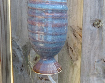 Stoneware Pottery Hummingbird Feeder in Opal Glaze