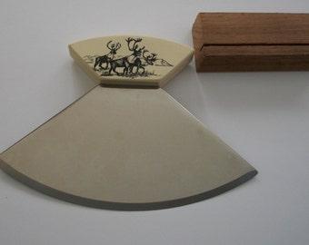 Alaskan Ulu Knife, Chopping knife, by Nana's Vintage Shop on Etsy
