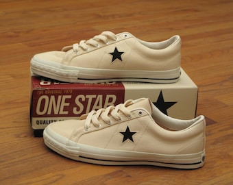 deadstock vintage canvas Converse one star