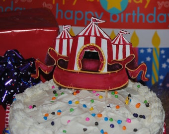Vintage Circus Tent Cake Topper
