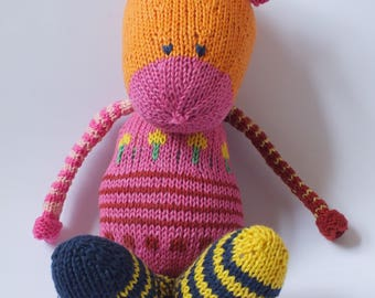 hand knitted toy, animal