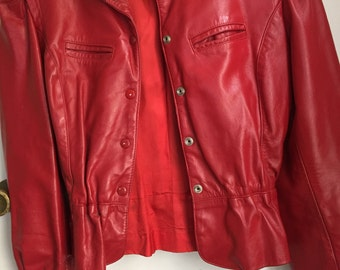Vintage RED Wilson leather jacket