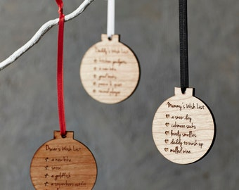 Personalised Christmas List Bauble Decoration