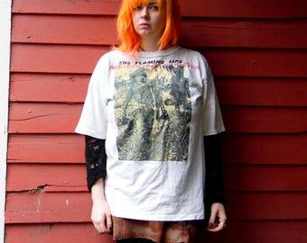 90s RARE Flaming Lips Custom Rock Band Collectible Paper Thin Tshirt XL