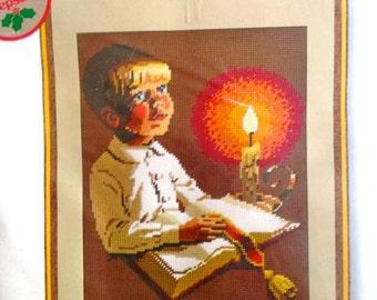 "Faith Religious Christmas Keepsake Needlepoint Kit – Sunset Needlepoint Kit No. 6095 – 11"" x 14"""