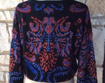 Holiday Florentine design Lurex sweater