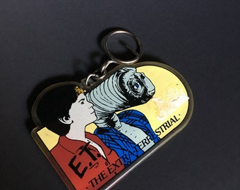 ET Extraterrestrial vintage 80's key chain fob