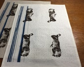 Custom Bunny Tea Towels