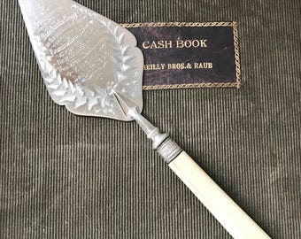 Antique 1898 English Silver Presentation Trowel