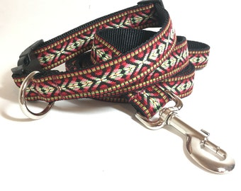Colorful Woven Dog Collar Custom sizes