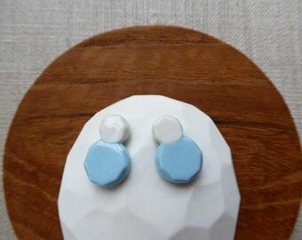 Faceted Daruma Stud Earrings