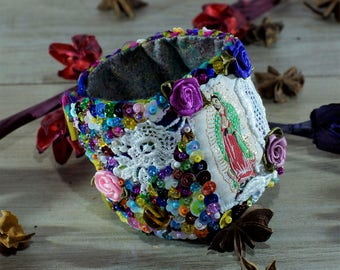 Lady of Guadalupe big embroidered cuff