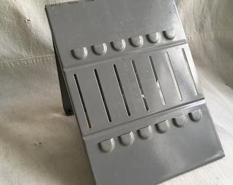 Vintage industrial clipborad easel   Tool holder  industrial tool tray