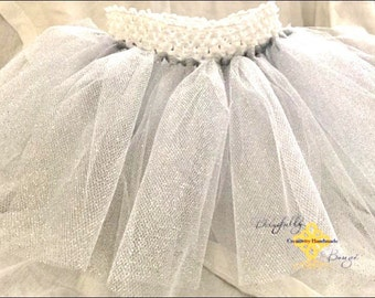 NEW Product LIMITED glitter silver infant tutu