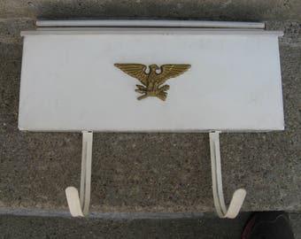 white metal mailbox newpaper holder americana cabin farmhouse