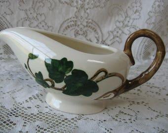 metlox poppy trail california ivy creamer hand painted mid century pottery