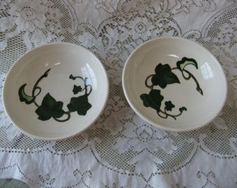 metlox poppy trail california ivy 6 inch bowls set of  hand painted mid century pottery