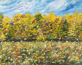 September Meadow- acrylic painting art print