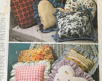 Decorative Throw Pillows Simplicity Sewing Pattern #6483 Decor Pillows