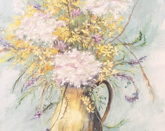 Shabby chic floral painting
