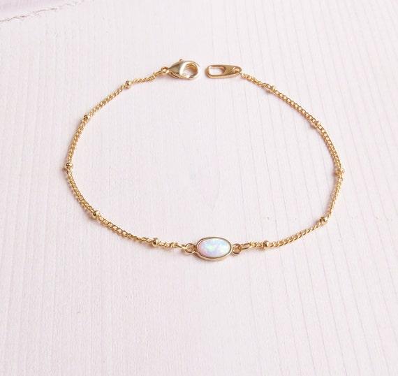 Tiny Opal Bracelet