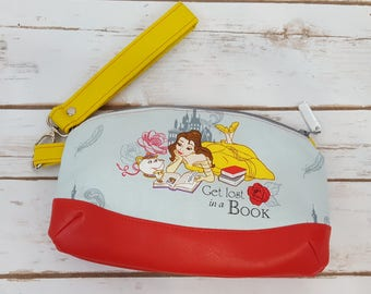 Clematis Wristlet Clutch - Red and Yellow - Belle - Beauty and the Beast