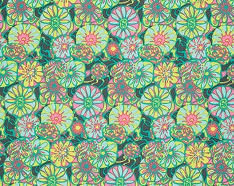 Daisy Shine in Citrus Fabric from the True Colors Collection by Amy Butler - Half Yard