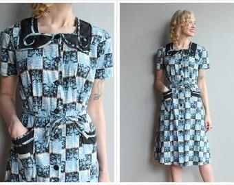 1940s Dress // Fruit of the Loom Dress // vintage 40s dress