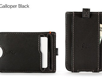 The Slim Front Pocket Wallet - Black | Mens Leather Wallet, Slim Wallet, Mens Wallet