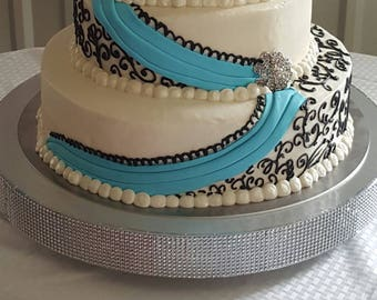 """Cake Stand """"Dazzling Diamonds"""" Bling, 14"""", 16"""", 18"""", 20"""", and 22"""", wedding cake stand"""